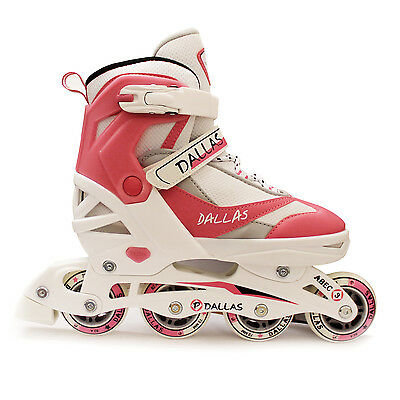 California Pro Dallas Inline Junior Girls Pink Roller Skates Adjustable • 47.98£