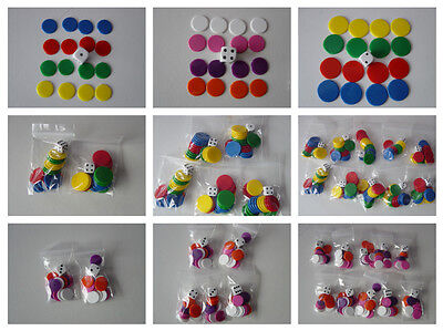 Counters And Dice Packs, Tiddlywinks, 15mm / 22mm Counters • 1£