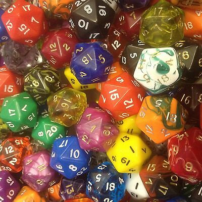 Poly Dice Packs Of 25 MIXED FINISH • 6.49£