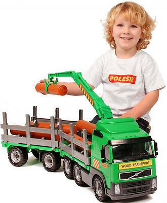 Toy Timber Truck Power Truck With Trailer Volvo Lorry Play Car Set Large  • 39.99£