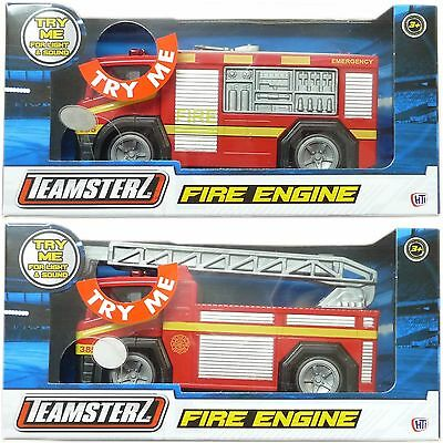 Teamsterz Fire Engine With Ladder, Lights & Sound Toy DieCast Age 3+ • 6.95£