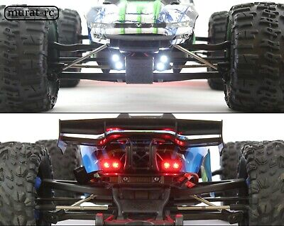 LED Lights Front And Rear Traxxas E-REVO 1.0 2.0 VXL 1/10 Waterproof By Murat-rc • 32.88£