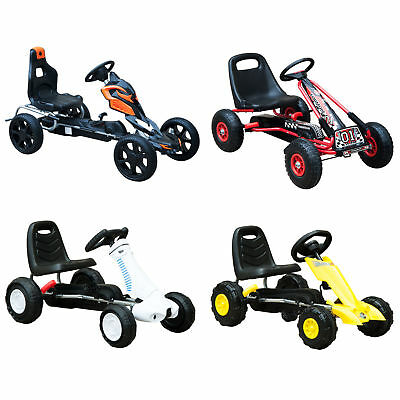 Kids Pedal Go Cart Children Outdoor Ride-on Car Racing Toy Wheels 4 Choices • 40.99£