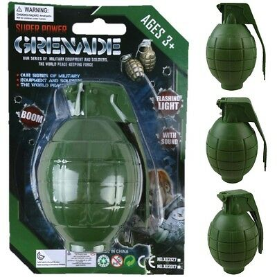 Kids Army Ammo Grenade Toy Realistic Sounds & Light Boys Soldier Role Play • 7.99£