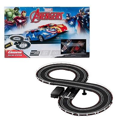 Carrera Toy Marvel Avengers Slot Car Racing Track Set With 2 Cars NEW • 26.95£
