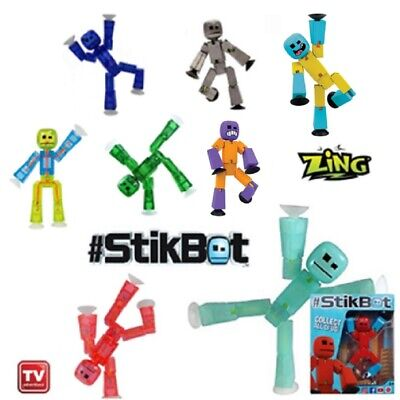 Genuine Boxed Stikbot Robot - Stickbots - Stop Motion Animation New 2020 Colours • 6.99£