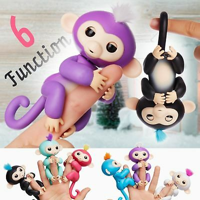 Finger Little Electronic Pet Monkey Clings Toy 6 Function Interactive Sense • 3.99£