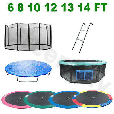 Trampoline Spring Cover Padding Safety Net Rain Cover Ladder Skirt Replacement • 64.99£