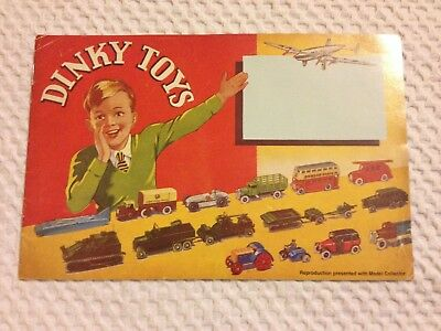 Dinky Toys 1939 Catalogue - Reproduction Presented With Model Collector • 15.50£