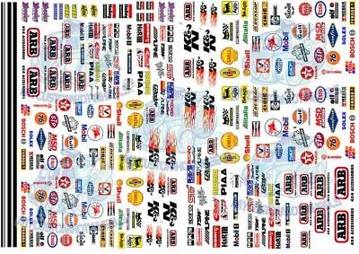 Race Pack 4 | Waterslide Decals & Racing Livery For All Popular Scale Model Cars • 7.76£