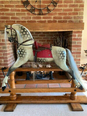 Rare F H Ayres Rocking Horse With Pommel -Large Size - FREE DELIVERY • 4,750£