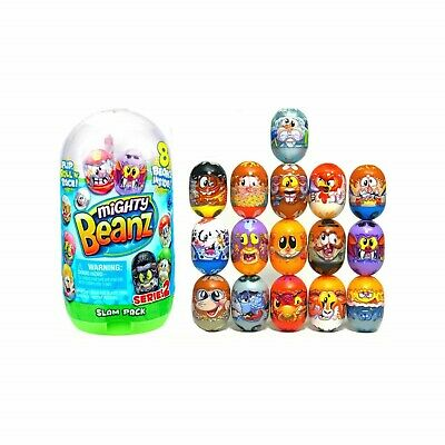 Mighty Beanz Slam Pack Series 2 Contains 8 Beanz Collect 140 Designs Toy NEW • 13.69£