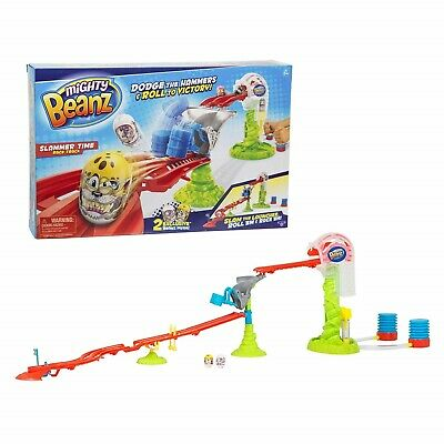 Mighty Beanz Slammer Time Race Track Includes 2 X Exclusive Beanz Toy NEW • 22.99£