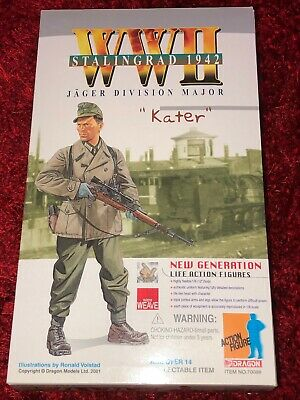 Jäger Division Major Kater German Soldier Action Figure • 89.99£