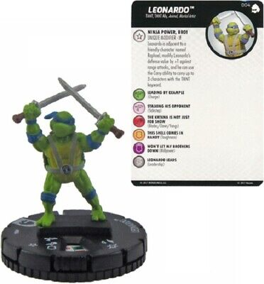 Heroclix - Turtles TMNT 3 Shredder's Return - LEONARDO #004 • 3£
