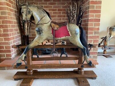 'Harley' Antique F H Ayres Rocking Horse - FREE DELIVERY  • 1,595£