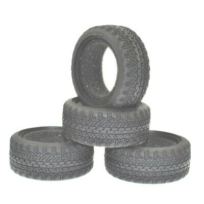 1/10 RC Car Racing Speed Rubber Sponge Tyre For HSP 1:10 On-Road Car 8006 4Pcs • 9.50£