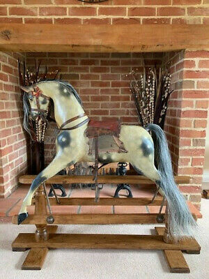 'Troy' Antique J R Smith Rocking Horse - FREE DELIVERY • 2,750£