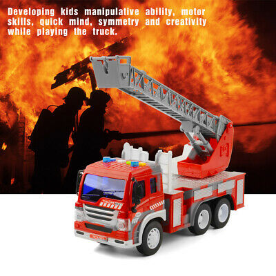 FIRE ENGINE TRUCK TOY WITH SOUND AND LIGHT For Kids Xmas Gifts • 9.99£