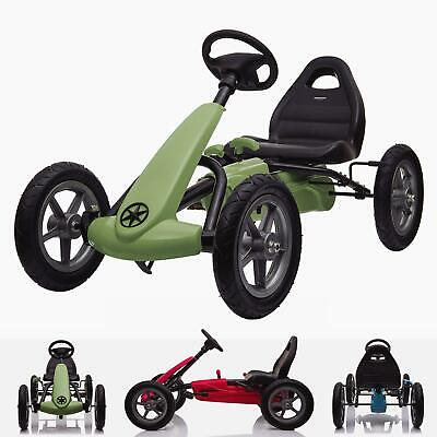 RiiRoo Kids Ride On Pedal Go Kart With Rubber Tyres Adjustable Seat Hand Break • 129£