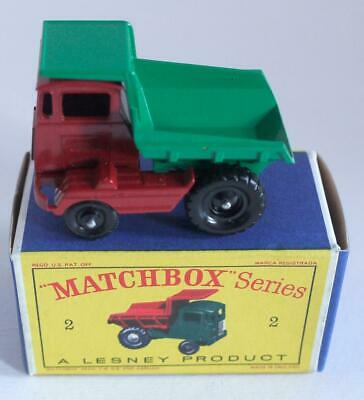Matchbox / Lesney  1-75 Regular Wheels (no 2) Muir Hill Dumper (boxed) • 28.95£