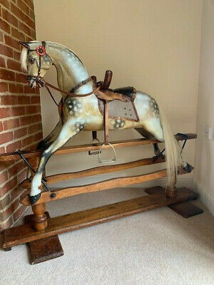 'Athena' Antique Paul Leach Rocking Horse Circa 1895  - FREE DELIVERY • 5,995£