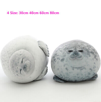 80cm Plush Animal Toy Chubby Blob Seal Cute Ocean Pillow Stuffed Doll Kids Gifts • 31.98£