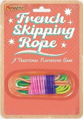 French Skipping Rope Elastic Multi Coloured Traditional Skip Game Gift Party  • 2.99£