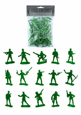 50 Green Toy Soldiers - Pinata Toy Loot/Party Bag Fillers Children/Kid Army Men • 1.99£