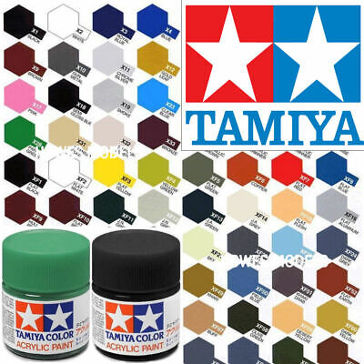 Tamiya Acrylic Paints 10ml X + XF Full Range Model Paint Jars - Revell, Airfix • 3.95£