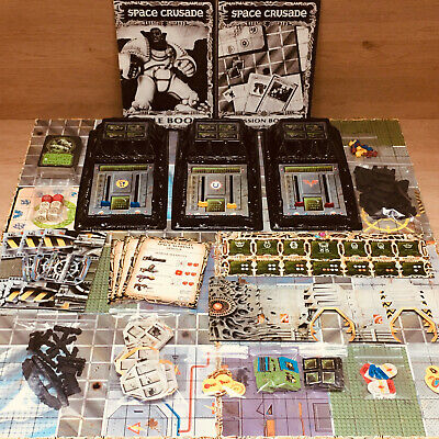 Space Crusade Boardgame No Box Or Minis Otherwise Complete! Budget! • 59.99£
