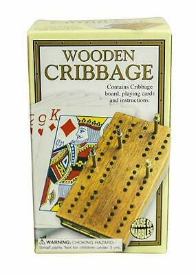 New House Of Marbles Wooden Cribbage Set 221153 Cribbage Board, Playing Cards • 4.99£