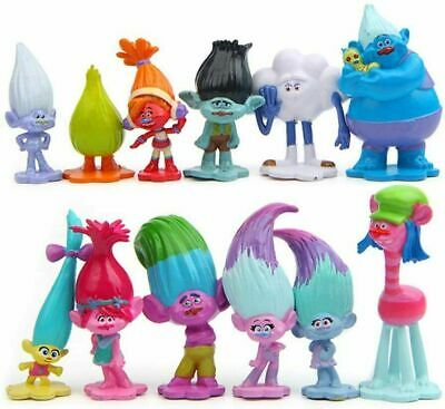12 Pcs/set Movie Trolls Poppy Branch Action Figures Cake Toppers Doll Toy Gifts • 9.49£