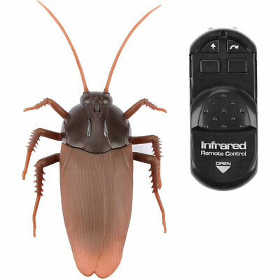 RC Remote Control Cockroach Creepy Insect Halloween Scary Toys Infrared Gift Fun • 7.89£