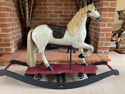 'Jacques' - Carousel Type Rocking Horse On Wheels And Rockers - FREE DELIVERY • 750£