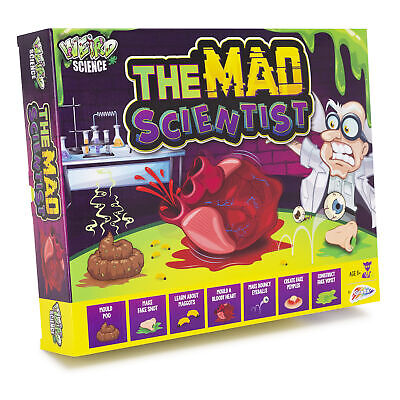 Grafix The Mad Scientist Weird Science Kit Fun Experiments Learning Set For Kids • 6.99£