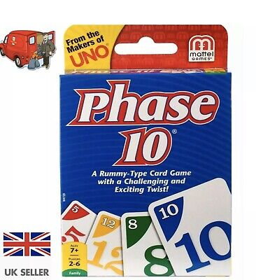 Phase 10 Family Card Game From The Makers Of Uno A Rummy Type Game🥳 • 4.94£