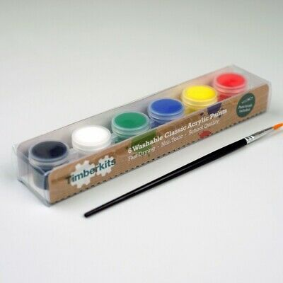 Timberkits Classic Acrylic Paint Set - The Perfect Accessory For Your Model • 5.99£