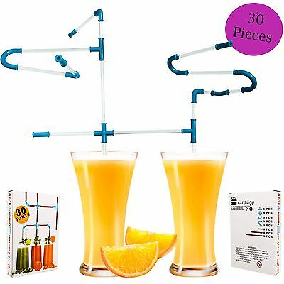 Kids Straws DIY Pipe Gift For Child Boy Girl Party Christmas Birthday Game Prize • 1.59£