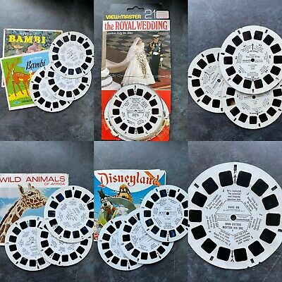 Vintage 3D Viewmaster Reels / Slides - Your Choice • 24.99£