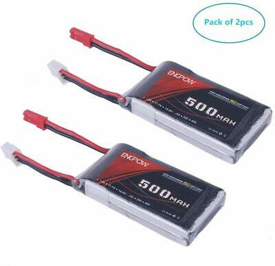 2x 7.4V 500mAh 25C 2S Lipo Battery JST Plug For RC Car Drone Boat Off Road Truck • 12.99£