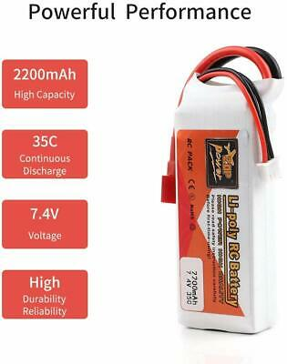 7.4V 2200mAh 2S 35C LiPo Battery Deans T Plug For RC Car Helicopter RC Drone Toy • 13.98£