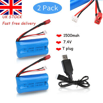 2pc 7.4V 1500mAh 2S Lipo Battery For WLtoys RC Car 12428 12401 12402 12403 12404 • 15.99£