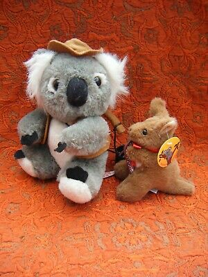 Koala Bear Soft Toy 7  Approx & Kangaroo 4  Approx (b25) • 7.99£