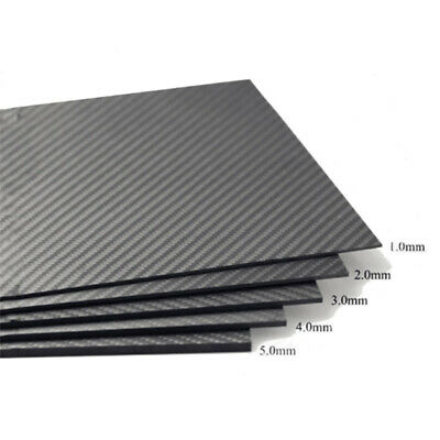 100% Carbon Fiber Plate Panel Sheet 3K Plain Weave Glossy 8 X10  16 X20  Fine • 13.29£