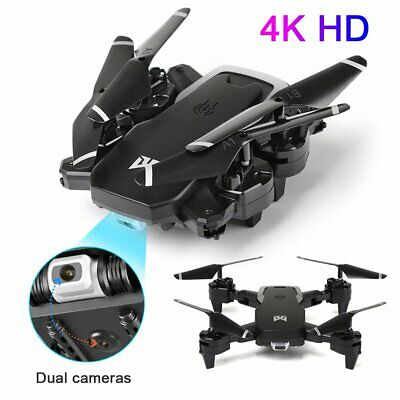 Drone X Pro Dual Camera WIFI FPV 2.4G 1080P HD 4K  Foldable Selfie RC Quadcopter • 40.99£