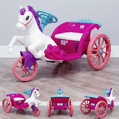 RiiRoo Princess 6V Unicorn Style Horse & Carriage Ride-on Toy Battery Operated • 89£