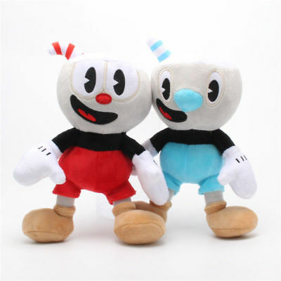 2pcs/set 10 Inch Cuphead Game Cuphead & Mugman Mecup And Brocup Plush Toy Doll  • 6.58£