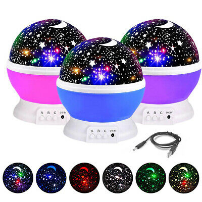 Calming Autism LED Light Sensory Projector Star Sky Multicolour Lamp Christmas • 9.99£
