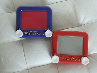 Vintage Pocket Etch A Sketch - Set Of 2 From Ohio Art • 39.95£